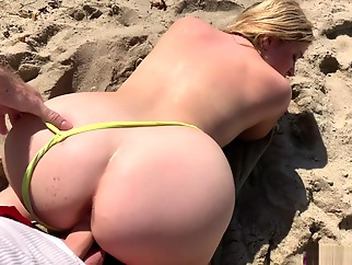 blond amateur beach