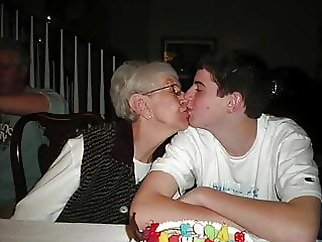 granny blowjob facial